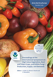 International Symposium on High Value Vegetables, Root and Tuber Crops, and Edible Fungi Production, Supply and Demands