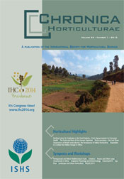 Chronica Horticulturae 54 number 1 (March 2014)