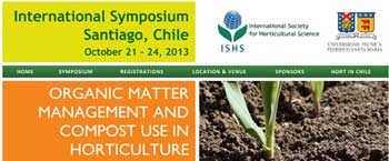 Website launched: II International Symposium on Organic Matter Management and Compost Use in Horticulture
